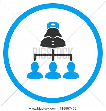 Nurse Patients Connections Rounded Icon