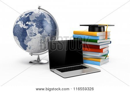 3d e-learning, education concept