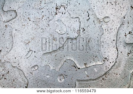 Grey Aluminum Background Divorced From The Clear Water