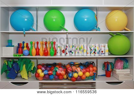 Shelving For Classes In Kindergartens And Schools Or Comprehensive System Of Early Development Of Th