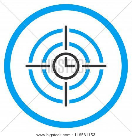 Time Target Rounded Icon