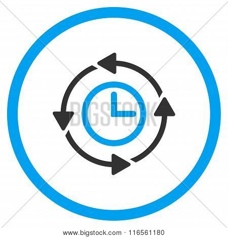 Wayback Clock Circled Icon