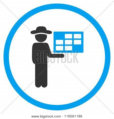 Agent Schedule Circled Icon