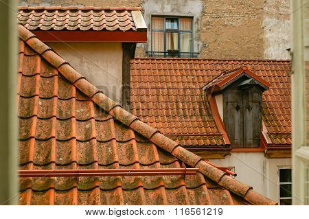 Tile roofs over centre of old town