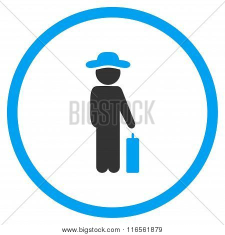 Gentleman Baggage Rounded Icon