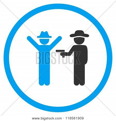 Human Crime Rounded Icon