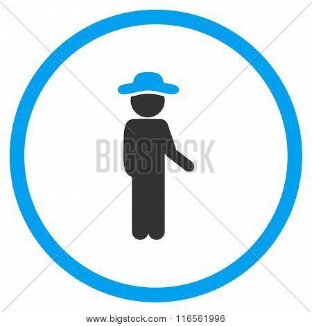 Gentleman Idler Circled Icon