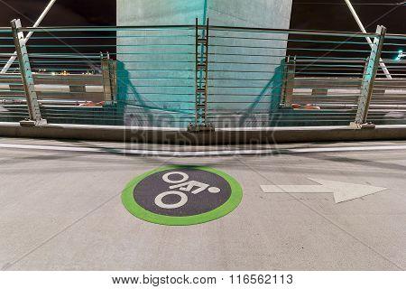 Cyclist Lane On Tilikum Crossing Bridge