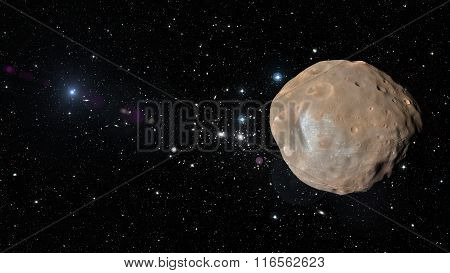 Planet Phobos In Outer Space. Elements Of This Image Furnished By Nasa