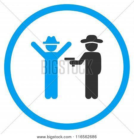 Boy Crime Rounded Icon