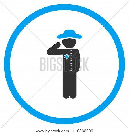 Boy Officer Rounded Icon