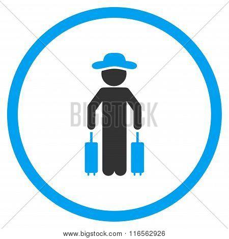 Male Passenger Circled Icon