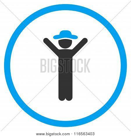 Happy Gentleman Circled Icon