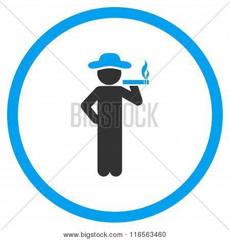 Smoking Boy Rounded Icon