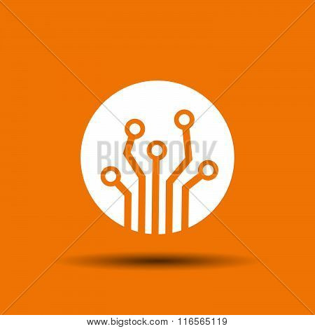 Pictograph of circuit board
