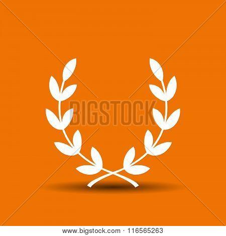 Pictograph of laurel wreath