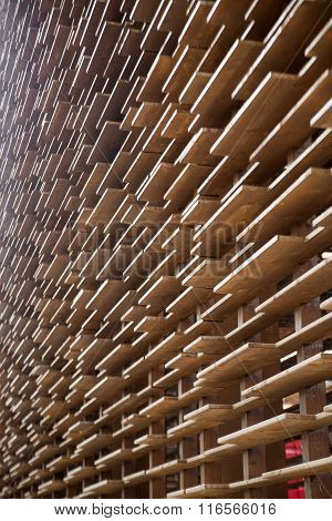 Wall Of Wood Boards