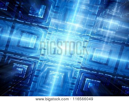 Blue Glowing Hardware Background