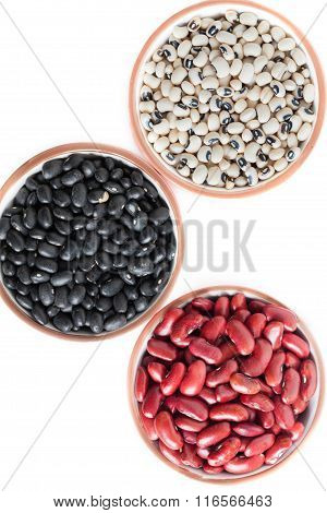 Bowls With Dried Beans