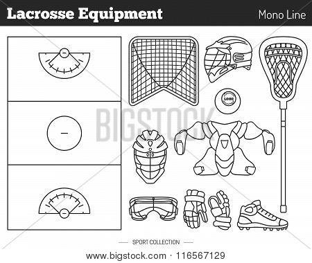 Vector Lacrosse Game Design Elements