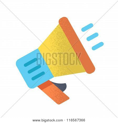 Megaphone. Vector illustration