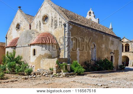 Arkadi Monastery, an Eastern Orthodox monastery, situated at the southeast of Rethymnon, on the isla