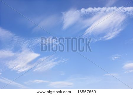 Cloudscape With Different Clouds