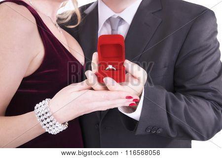 Man Proposing Engagement Ring