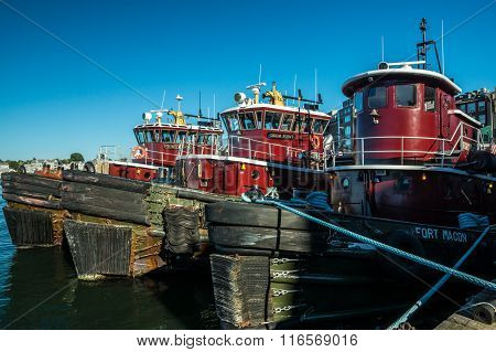 Portsmouth Harbor Tugboats