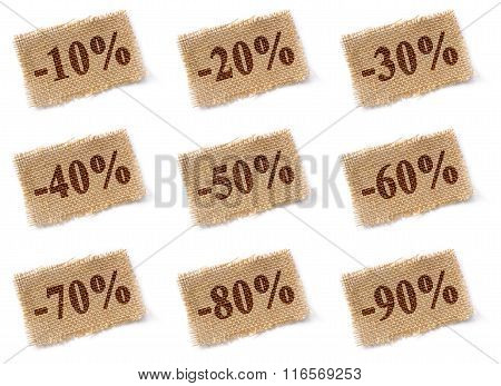 Fabric Tag With Discounts Set