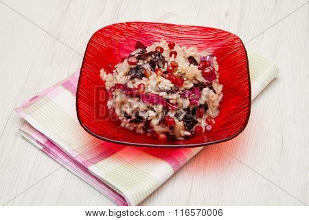 Radicchio Risotto On Dish