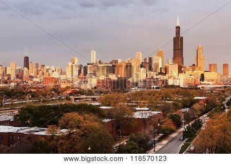 Chicago Autumn Panorama