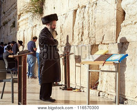 The Western Wall also known as Wailing Wall or Kotel