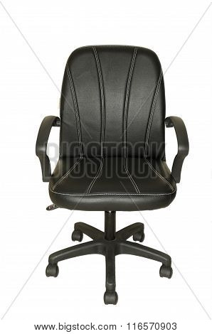 Office chair sitting on a white background.