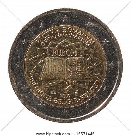 2 Euro Coin From Belgium