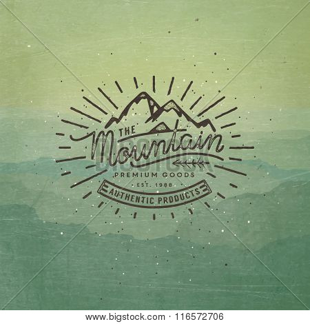 Mountain adventure lettering