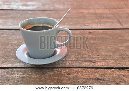 coffee on beach background