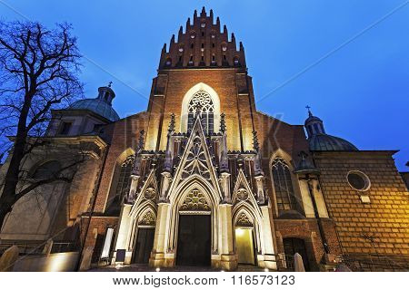 Holy Trinity Church In Krakow