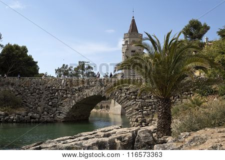 Cascais Inlet, Bridge And Palace
