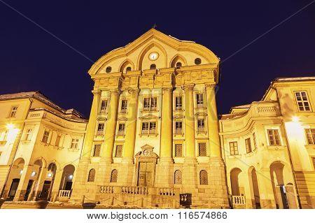 Ursuline Church Of The Holy Trinity In Ljubljana
