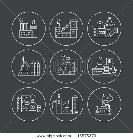 Factory Line Icons