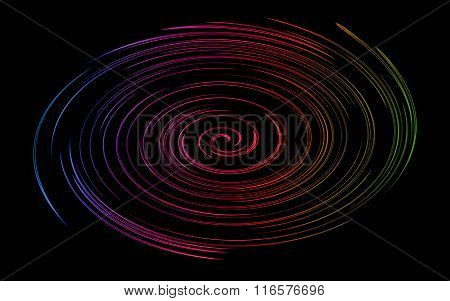 Colorful twirl abstract background.