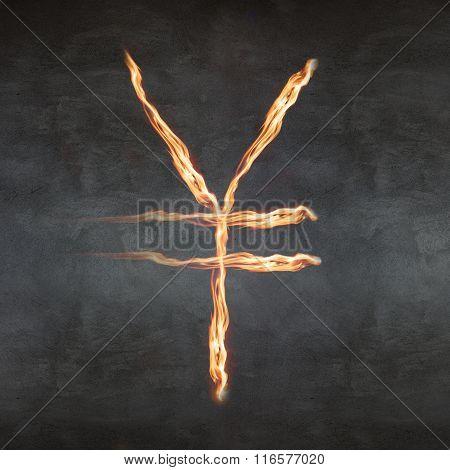 Fire yen sign