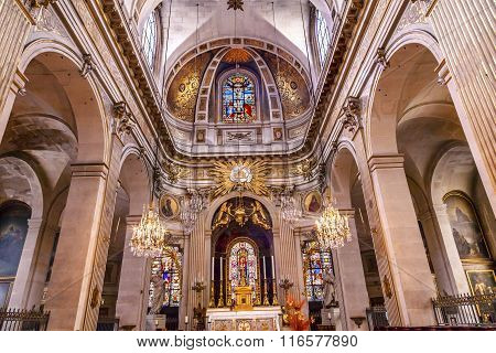 Basilica Stained Glass Saint Louis En L'ile Church Paris France