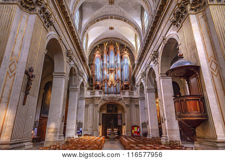 Basilica Organ Saint Louis En L'ile Church Paris France