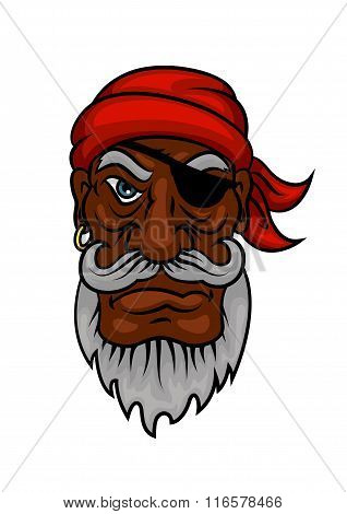 Old cartoon pirate with eye patch