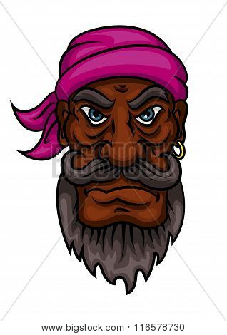 Cartoon angry pirate captain or sailor