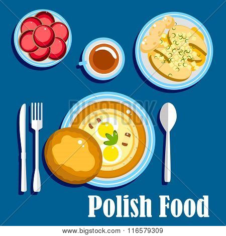 Traditional polish cuisine food and desserts