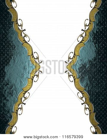 Blue Abstract Frame. Element For Design. Template For Design. Copy Space For Ad Brochure Or Announce