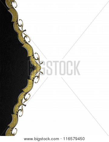 Black Decoration Design. Element For Design. Template For Design. Copy Space For Ad Brochure Or Anno
